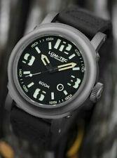Lum-Tec Watch Abyss 600M-1 Automatic Mens Diver Black Leather AUTHORIZED DEALER