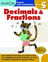 Decimals  Fractions Grade 5 Kumon Math Workbooks