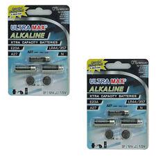 2X Ultramax Alcaline assortiti pacco batteria 5X 1x A27, 1x E23a, 1x N, 2x LR44