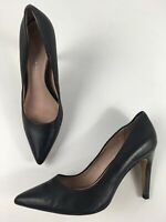 WOMENS NEXT LEATHER COLLECTION BLACK LEATHER SLIP ON HIGH HEEL COURT SHOES UK 6