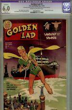 GOLDEN LAD #2-CGC 6.0 (SLIGHT R)- WWII COMIC-STATUE OF LIBERTY CVR-1945