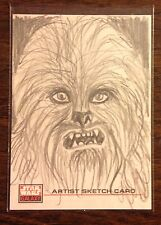 Chewbacca Topps Star Wars Galaxy 4 sketch card 1/1