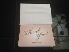 Pandora Charm Authentic 5 Pink Thank You Notes & 5 envelopes unavailable public