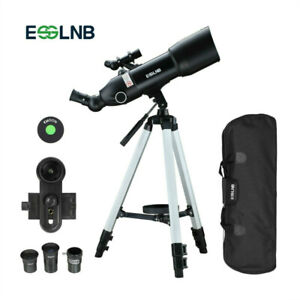 Astronomical Observer Telescope 80mm 400X Refractor with Backpack