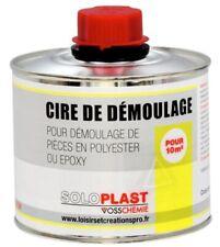 CIRE DE DEMOULAGE W2 SOLOPLAST pour pièce en polyester ou epoxy