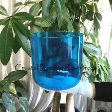 "Blue G Throat Chakra Clear Quartz Crystal Singing Bowl 6"""