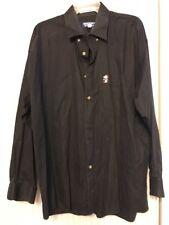 SNOOPY & Friends Mens Shirt Long Sleeve Black Size 16.5 32/33 Ships N 24h