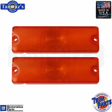 65 Impala Caprice Parking Turn Light Lamp Lenses AMBER - Made in the USA New