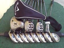 Callaway X Fusion Irons Driver Wood Hybrid Complete Golf Club Set Mens RH Set