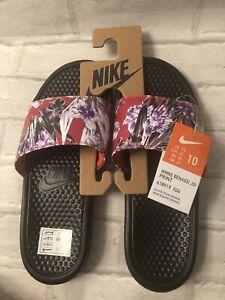 Nike Benassi JDI Floral Print Slides UK 7.5 EUR 42 618919-024