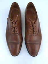 JOHN LOBB Bespoke Philip Brown Cap Toe Leather Uk 9 US Size 10 Men Oxford Shoes