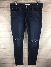 Levis 535 Legging Jeans Size 33x28 Raw Hem Destroyed Knees Stretch