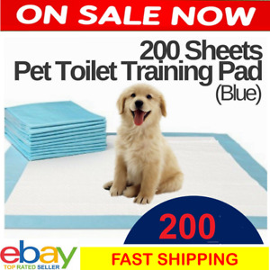 200x Dog Puppy Pet Pads Pee Wee Training Pads Underpads DISPOSABLE Diapers Blue