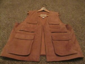 Orvis Leather Vest - XL
