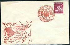 Ryukyus Stamps 18 3¥ Dp Plum FDC Hand Stamped Cachet VF 01APR1952 SCV