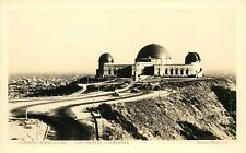 RPPC Postcard Griffith Observatory & Driveway Los Angeles CA Starrett Photo E-1
