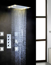 Bath Shower Faucet Tap Set LED Bathroom Shower Mixer Head Large Water Flow Valve
