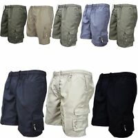 Mens Outdoor Tactical Shorts Elastic Waist Summer Lightweight Cargo Short Pants/