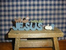 "Blossom Bucket What Would Jesus Do? Resin Cut out Shelf Sitter 5"" L x 1 1/2"" H"