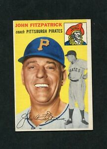 1954 Topps #213 John Fitzpatrick CO EX-MT+ (Pirates)  *SCC*
