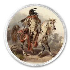 """Native American Indian On Horse - 3"""" Sew / Iron On Patch Gift Present Gift"""