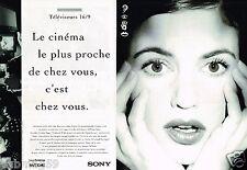 Publicité advertising 1995 (2 pages) Téléviseur Trinitron Sony