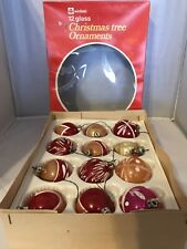 Vintage, Woolworths,winfield, Christmas Tree Baubles, Blown Glass