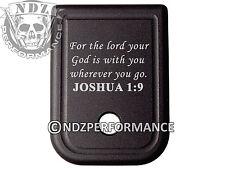 For Glock Magazine 10mm .45 cal BLK Plate 20 21 29 30 40 41 Bible Joshua 1:9