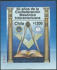 CHILE 1997 50 Years Inter-American Masonic Confederation souvenir sheet MNH