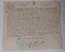 Schnörkel-Geburtsbrief Rittergut Haubitz (Grimma) 1807 f. Johann Christian Hahne