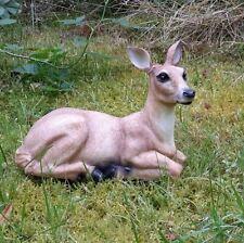 Gartenfigur Gartendeko Reh Rehkitz Bambi liegend Wald Förster Natur 4636