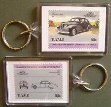 1941 PACKARD CLIPPER Car Stamp Keyring (Auto 100 Automobile)