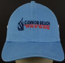 Cannon Beach Oregon Blue Baseball Hat Cap and Snapback Strap