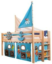 Kids Raised Cabin Pirates Play Solid Wood Bed DOMINO (made to order)