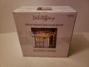 Dale Tiffany STH11008  Mission 2-Light Antique Bronze Semi-Flush Mount Light