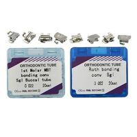 80pcs Dental Orthodontic Bondable Buccal Tube Convertible 1st Molar MBT Roth 022