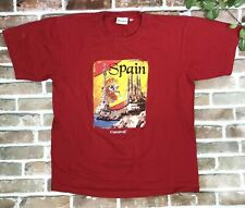 Carnival Cruise Spain shirt Mens Size Large Red With Graphic