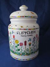 KATHY DAVIS COLLECTION Cookie Jar Fletcher Family Tweets Birdhouse 1999 RARE!