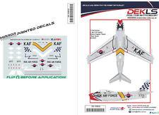 Decals F-86 Sabre ROKAF - Black Eagles Aerobatic Team 'Red Nose' 1/144 Scale