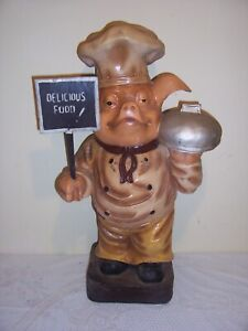 vintage Advertising Pig display chef cafe butchers large 25 ins high 99p no res