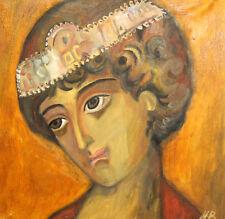 Original Expressionist oil painting portrait signed