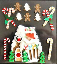 Gingerbread House Christmas Candy Canes Gingerbread Man Jolee's 3D Sticker