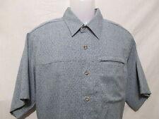 ROYAL ROBBINS Mens Vented Button Front Travel Shirt,M/Medium,Short Sleeve,Blues