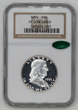 1955 PROOF FRANKLIN HALF DOLLAR 50C NGC & CAC CERTIFIED PF 67* STAR - CAMEO (083