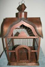 "Decorative Metal Bird Cage11"" x11"" x 20"" Tall Weighs 2.6 Pounds"