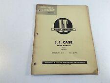 Vintage 1955 Implement & Tractor Shop Manual- JL Case Model 500 Diesel