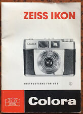 Zeiss Ikon Colora  - Instruction for use von 09.63