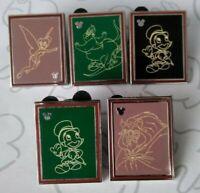 Chalk Sketches 2014 Hidden Mickey Series Set DLR Choose a Disney Pin