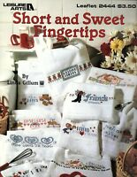 Leisure Arts- Short & Sweet Fingertips 10 Designs for Cross Stitch Pattern 1993