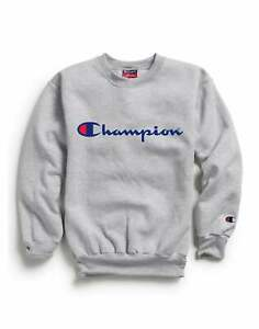 Champion Kids' Athletics Double Dry Sweatshirt Youth Boys Girls Script Logo